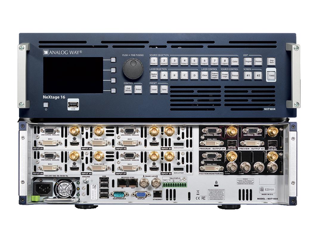 NeXtage 16 - 4K (NXT1604-4K) von Analog Way® / Signalprozessor