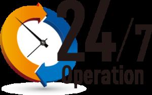 24/7 Operation Logo