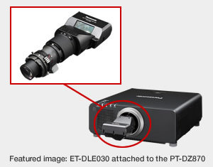 ET-DLE030 von Panasonic / Objektiv