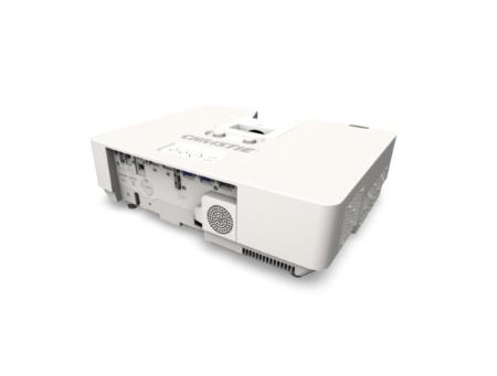Weißer LCD Projektor Rückansicht