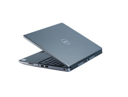 Schwarzer Laptop halb aufgeklappt