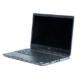 Schwarzer aufgeklappter Laptop von vorne