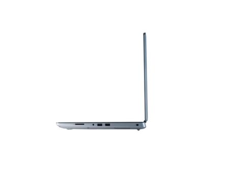 Aufgeklappter Laptop von der Seite