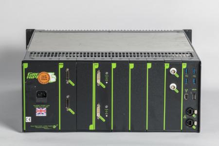 Schwarz-grüner Medienserver, Rückseite