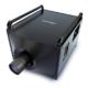 Sehr großer schwarzer Projektor mit Handles oben und Objektiv